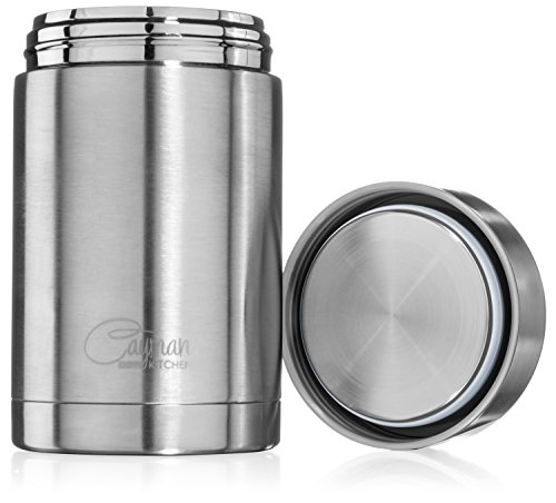 Cayman Kitchen Insulated Stainless Steel Thermos Food Jar, 16 oz.