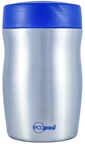 Ecopod 16-Ounce Stainless Steel Insulated Thermos Food Jar, Blue