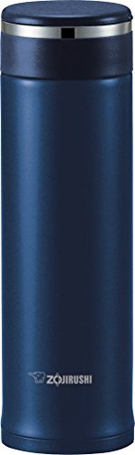 Zojirushi SM-JTE46AD Stainless Steel Travel Mug with Tea Leaf Filter, 16-Ounce, Deep Blue