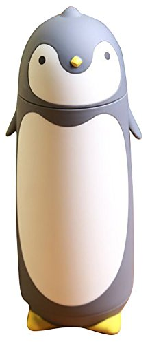 280ml stainless steel cute penguin cup thermos flask vaccum flask (grey)
