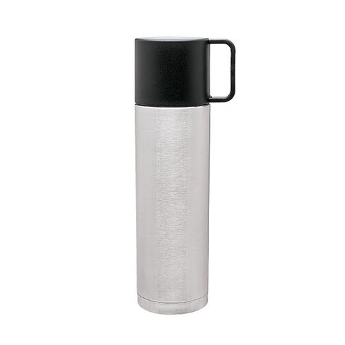 Double Wall Stainless Steel Travel Thermos, Vacuum Insulated, Copper Lined, 10oz. Capacity - Brushed Stainless