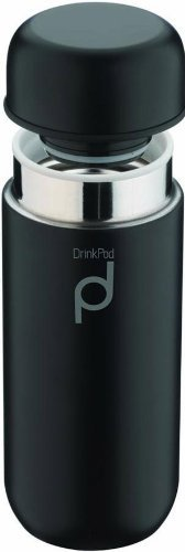 Grunwerg Matt Black Drink Pod Flask Thermoses 200ml/7 ounces HCF-200BK