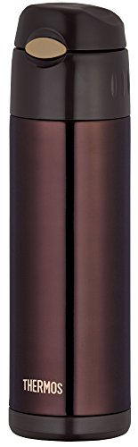THERMOS vacuum insulation straw bottle 0.5L Brown FFI-500 BW
