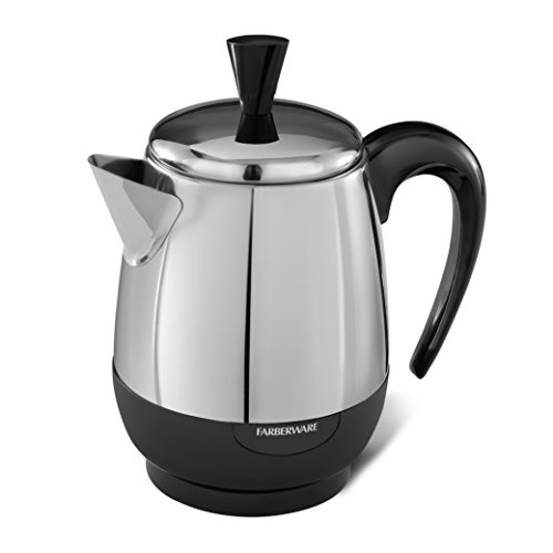 Farberware 2-4-Cup Percolator, Stainless Steel, FCP240
