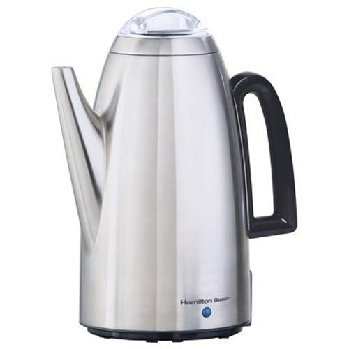 Hamilton Beach Brands 40614 Coffee Percolator, Stainless Steel, 12-Cup,Pack of 1