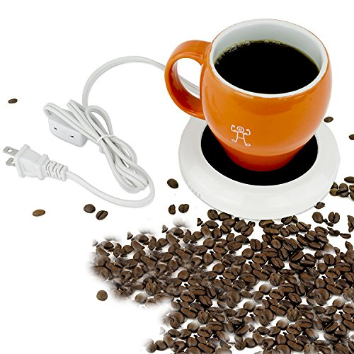 Desktop heated coffee/tea mug warmer - candle & wax warmer (1, 1 Cup) (D132) (MW1100)